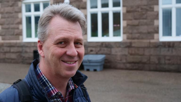 Joel Oresten från Smögenlax pratade under kursen om hur de har byggt upp sin RAS-anläggning i Kungshamn.